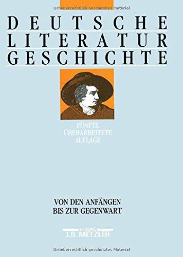 9783476012869: Deutsche Literaturgeschichte. Von den Anfängen bis zur Gegenwart