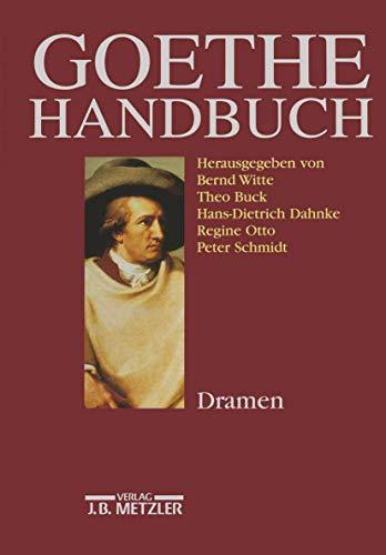 9783476014443: Goethe-Handbuch: Band 2: Dramen (German Edition)