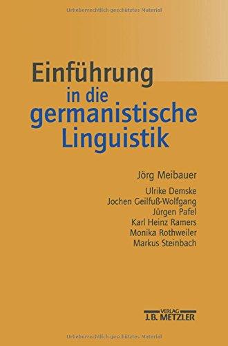 9783476018519: Einführung in die germanistische Linguistik.