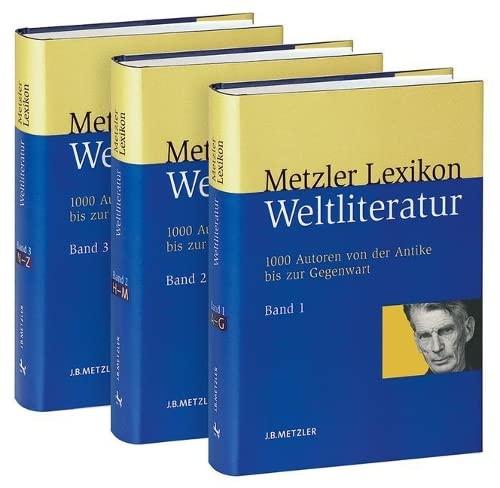 9783476020932: Metzler Lexikon Weltliteratur