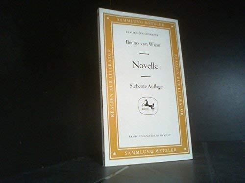 9783476100276: Novelle