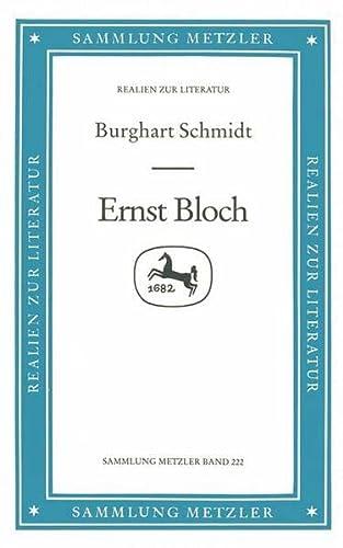 9783476102225: Ernst Bloch (Sammlung Metzler. Abt. D, Literaturgeschichte) (German Edition)