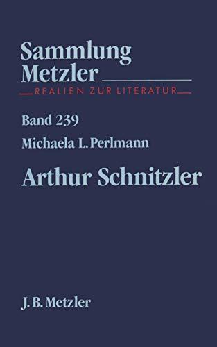 9783476102393: Arthur Schnitzler (Sammlung Metzler)