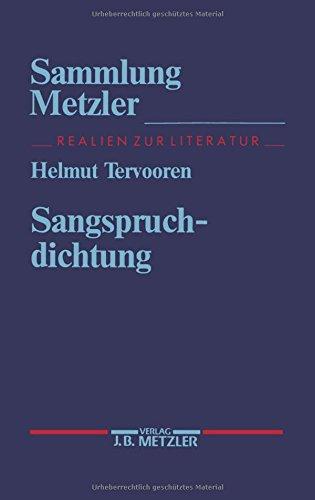 Sangspruchdichtung (Sammlung Metzler): Helmut Tervooren