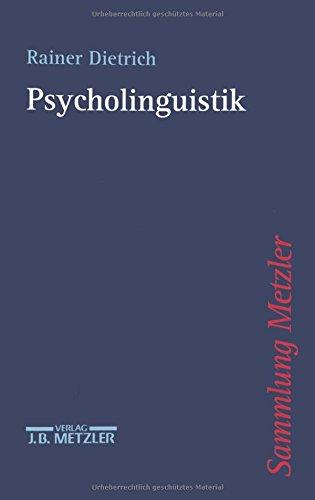 9783476103420: Psycholinguistik