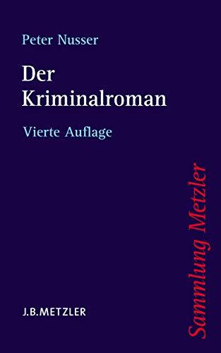 9783476141910: Der Kriminalroman