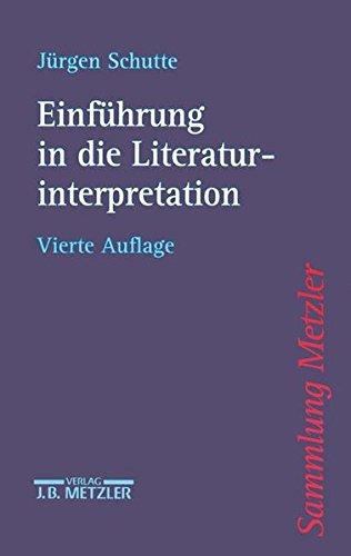 9783476142177: Einführung in die Literaturinterpretation.