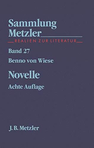 9783476180278: Novelle. ( Abt. E, Poetik).