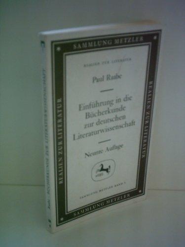 9783476190017: Einführung in die Bücherkunde zur deutschen Literaturwissenschaft
