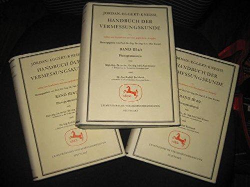 9783476400116: Handbuch der Vermessungskunde