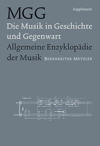 9783476410337: Musik in Geschichte und Gegenwart (MGG). Supplemen
