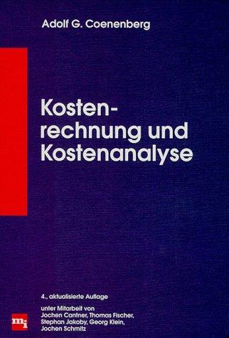 9783478393942: Kostenrechnung und Kostenanalyse.