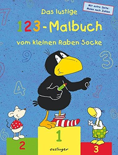 9783480221875: Das lustige 123-Malbuch vom kleinen Raben Socke: Mit extra Seite Malen nach Zahlen