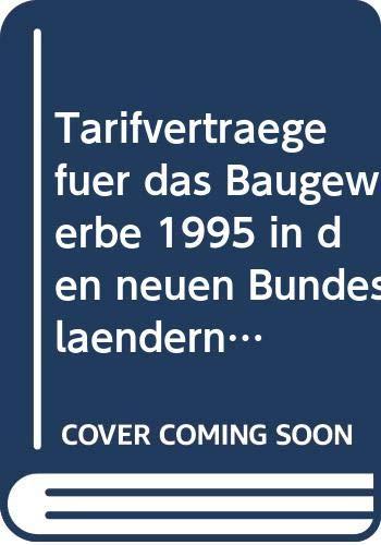 9783481009120: Tarifverträge für das Baugewerbe in den neuen Bundesländern