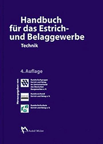 Handbuch für das Estrich und Belaggewerbe