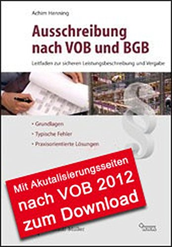 Ausschreibung nach VOB und BGB: Achim Henning