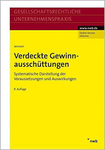 9783482422102: Verdeckte Gewinnaussch�ttungen: Systematische Darstellung der Voraussetzungen und Auswirkungen