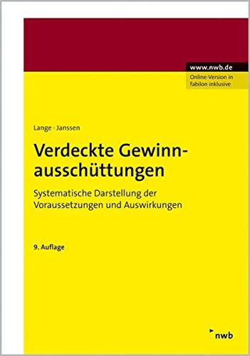 9783482422195: Verdeckte Gewinnausschüttungen: Systematische Darstellung der Voraussetzungen und Auswirkungen