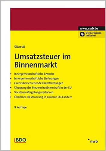 Umsatzsteuer im Binnenmarkt: Ralf Sikorski