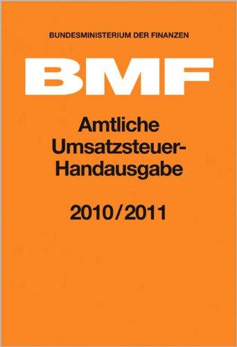 9783482476464: Amtliche Umsatzsteuer-Handausgabe 2010/2011