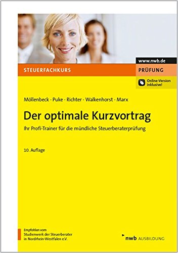 9783482536908: Der optimale Kurzvortrag (Steuerfachkurs)