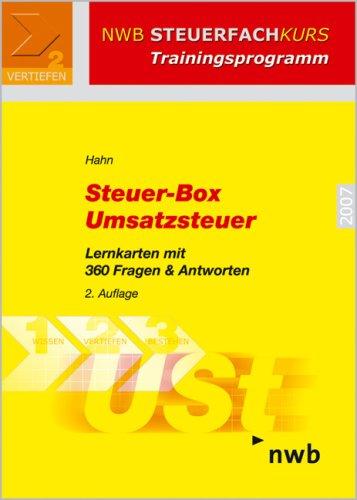 9783482544521: Steuer-Box Umsatzsteuer. Lernkarten mit 360 Fragen & Antworten (NWB Steuerfachkurs - Trainingsprogramm)