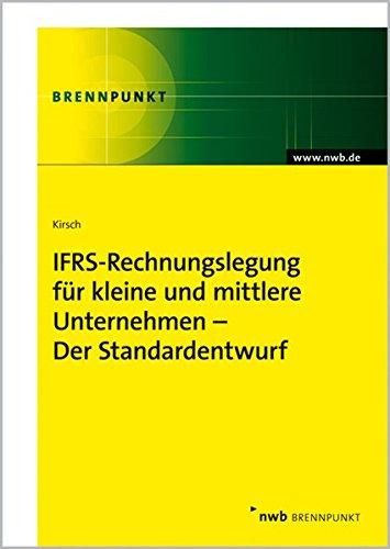 9783482576812: IFRS-Rechnungslegung f�r kleine und mittlere Unternehmen: Der Standardentwurf
