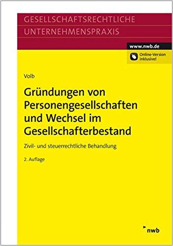 Gründungen von Personengesellschaften und Wechsel im Gesellschafterbestand: Helmut Volb