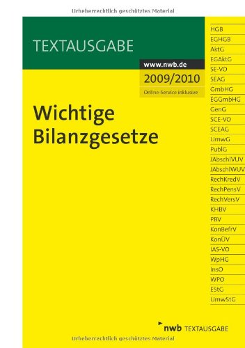 9783482586316: Wichtige Bilanzgesetze