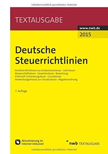 9783482599477: Deutsche Steuerrichtlinien