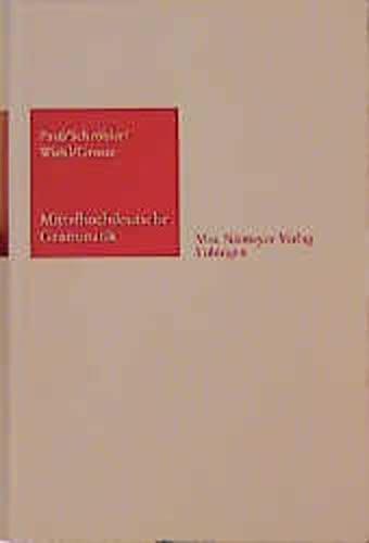 9783484102323: Mittelhochdeutsche Grammatik