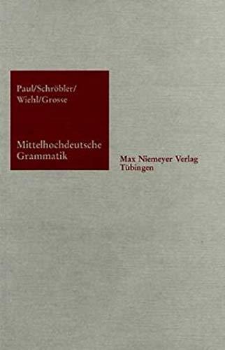 9783484102330: Mittelhichdeutsche Grammatik (German Edition)