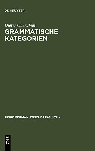 """Grammatische Kategorien: Das Verh ltnis Von """"traditioneller"""" Und """"moderner"""" ..."""