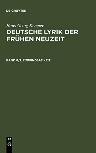 Empfindsamkeit (German Edition): Hans-Georg Kemper