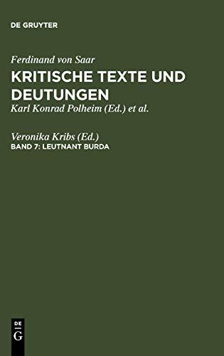9783484107359: Leutnant Burda