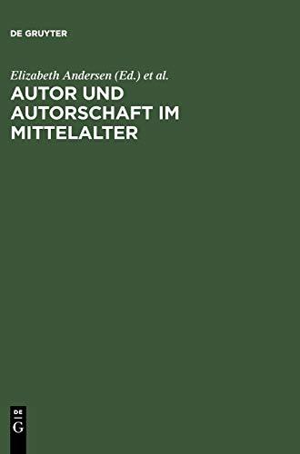 9783484107502: Autor Und Autorschaft Im Mittelalter: Kolloquium Meissen 1995