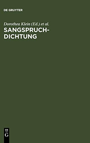 9783484108080: Sangspruchdichtung (German Edition)