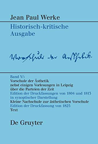 Vorschule der Aesthetik: Florian Bambeck
