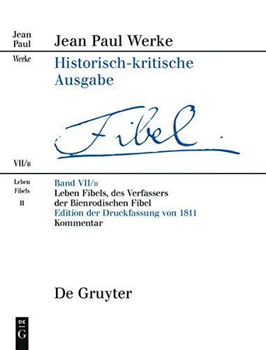 9783484109186: Leben Fibels, Des Verfassers Der Bienrodischen Fibel: Band 1: Text