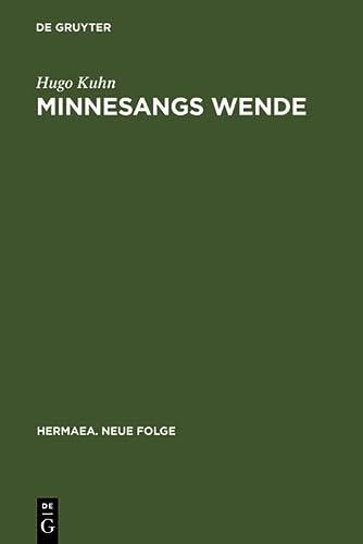 9783484150003: Minnesangs Wende (Hermaea)