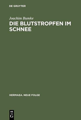 9783484150942: Die Blutstropfen Im Schnee: Über Wahrnehmung Und Erkenntnis Im »parzival« Wolframs Von Eschenbach