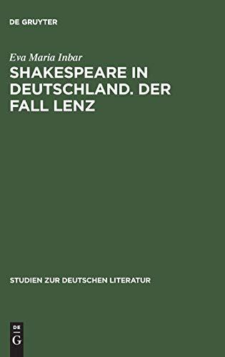 Shakespeare in Deutschland. Der fall Lenz: Inbar, Eva Maria