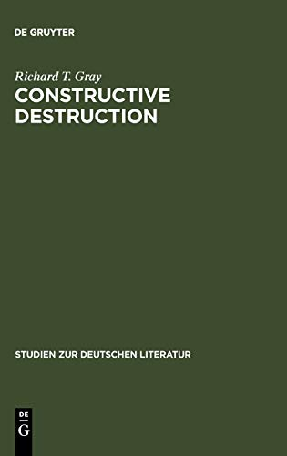9783484180918: Constructive Destruction: Kafka's Aphorisms - Literary Tradition and Literary Transformation (Studien Zur Deutschen Literatur)