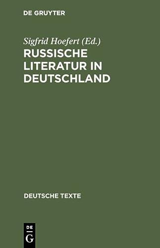 9783484190313: Russische Literatur in Deutschland : Texte z. Rezeption von d. achtziger Jahren bis z. Jahrhundertwende