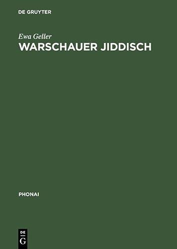 9783484231467: Warschauer Jiddisch (Phonai,) (German Edition)