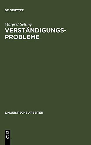 9783484301818: Verstandigungsprobleme (Linguistische Arbeiten, Vol 181)