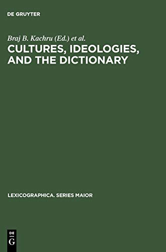9783484309647: Cultures, Ideologies and the Dictionary: Studies in Honor of Ladislav Zgusta (Lexicographica: Series Maior)