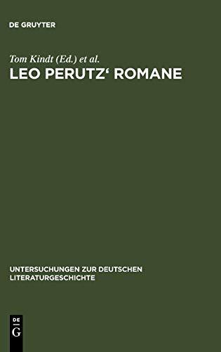 9783484321328: Leo Perutz' Romane: Von der Struktur zur Bedeutung (Untersuchungen Zur Deutschen Literaturgeschichte)