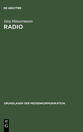9783484371064: Radio (Grundlagen Der Medienkommunikation) (German Edition)