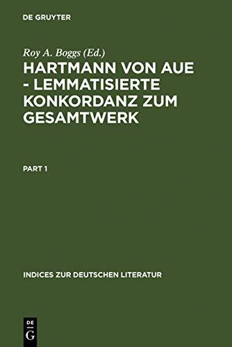 9783484380127: Hartmann Von Aue Lemmatisierte Konkordanz Zum Gesamtwerk (Indices Zur Deutschen Literatur)